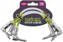 Ernie Ball 6051 Patch Cable Angle/Angle - White - 15.24 cm (6'') - 3 Pack