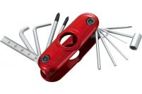 Ibanez MTZ11 Multitool Hex Wrench (11 Tools in 1) - Metallic Red