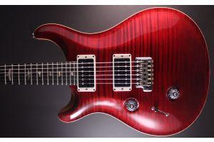 PRS USA Custom 24 Lefthand LTD 10-Top T3 (RI) - Red Tiger Satin - Flame Maple Neck - Ebony FB