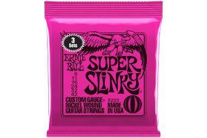 Ernie Ball 3223 3x Super Slinky .009 - .042 - Tone Pack