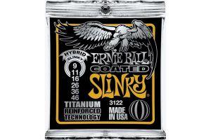 Ernie Ball 3122 Hybrid Slinky Coated Titanium .009 - .046
