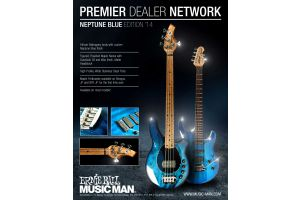 Music Man USA John Petrucci JP7 NB - PDN Neptune Blue Roasted Neck Limited Edition MN PV