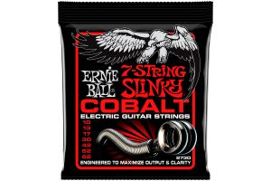 Ernie Ball 2730 Cobalt 7-String Skinny Top Heavy Bottom Slinky .010 - .062