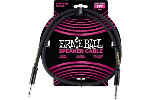 Ernie Ball 6071 Speaker Cable Straight/Straight - Black - 0.91 m (3')