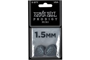 Ernie Ball 9200 Prodigy Guitar Pick Mini - 1.50 mm - Black - 6 Pack