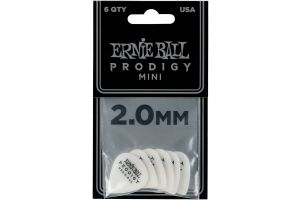Ernie Ball 9203 Prodigy Guitar Pick Mini - 2.00 mm - White - 6 Pack