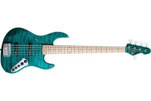 ESP Amaze-DLX 5 BKTQ - Black Trans Aqua