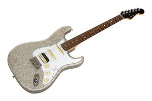 Fender Made in Japan Limited Stratocaster HSS RW - Silver Sparkle - Black Headstock