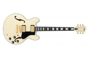 FGN Masterfield Semi Acoustic Custom HH AWH - Antique White