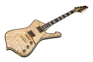 Ibanez PS4CM Paul Stanley Signature - Gold Cracked Mirror