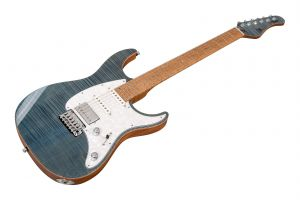 Mayones Aquila 6 FM Custom Flamed Maple - Aquamarine Gloss