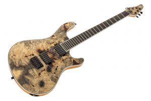 Mayones Regius 6 Buckeye Burl Top - Transparent Natural Satin