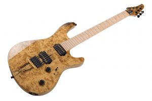 Mayones Regius 6 Custom Shop Mastergrade Myrtlewood - Trans Natural Gloss - Birdseye MN