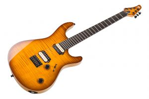 Mayones Regius 6 - Transparent Amber Burst Gloss