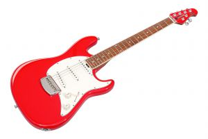 Music Man USA Cutlass SSS Guitar BFR - Scarlet Red - Limited Edition