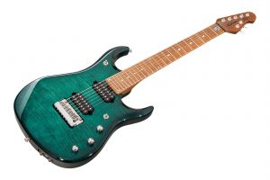 Music Man USA John Petrucci JP15-7 BFR FT TE - Teal Flame PV