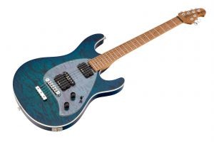 Music Man USA Steve Morse Y2D STD NB - PDN Neptune Blue Roasted Neck Limited Edition MN