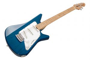 Music Man USA Albert Lee SSS Trem TB - Translucent Blue - 1pc body PV