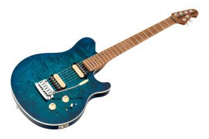 Music Man USA Axis Super Sport Trem NB - PDN Neptune Blue Roasted Neck Limited Edition MN