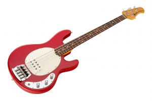 Music Man USA Classic Stingray 4 CLR - Classic Red RW Flame WHPG
