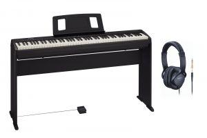 Roland FP-10 BK Piano Bundle incl.  KSCFP10-BK Keyboard Stand + RH-5 Headphones