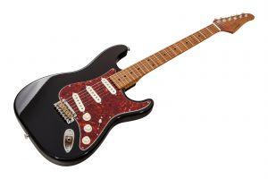 Suhr Classic S Antique SSS Custom Ltd Roasted Flamed Maple BK - Black MN
