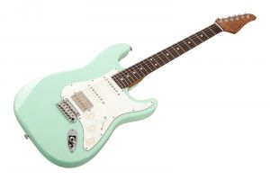 Suhr Classic S HSS Custom Ltd Roasted Flamed Maple SG - Surf Green RW
