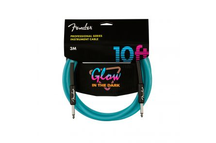 Fender Professional Glow in the Dark Cable, Blue, 10'