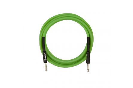 Fender Professional Glow in the Dark Cable, Green, 10'