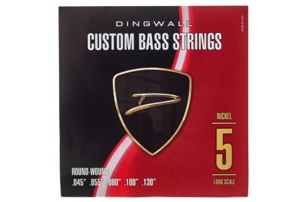 "Dingwall Long Scale 5-string Set - Nickel Plated Steel .045"" - .130"""