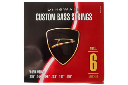 "Dingwall Long Scale 6-string Set - Nickel Plated Steel .030"" - .130"""