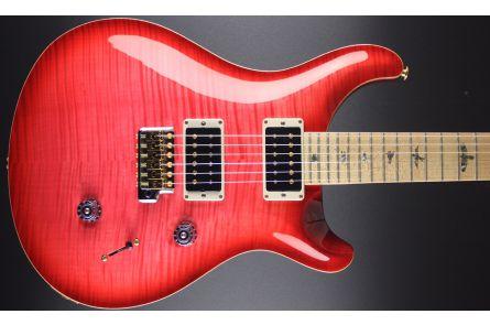 PRS USA Custom 24 10-Top CC - Bonnie Pink Red Burst - Custom Color - Swamp Ash Body - Maple Neck & FB