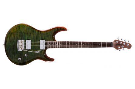 Music Man USA Luke III BFR HH FT LG - Luscious Green Flame