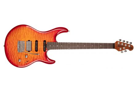 Music Man USA Luke III BFR HSS QT CB - Cherry Burst Quilt