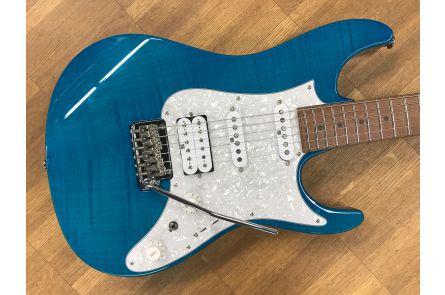 Ibanez AZ2204F TAB - Prestige - Transparent Aqua Blue