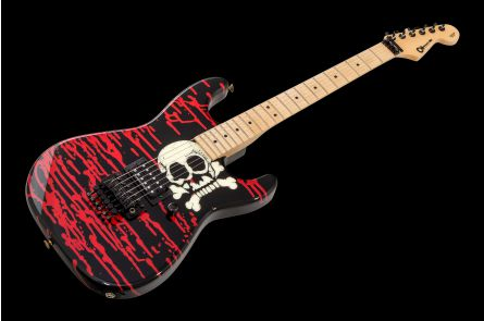 Charvel USA Custom Shop Warren DeMartini San Dimas Strat - Skull w/Blood PV