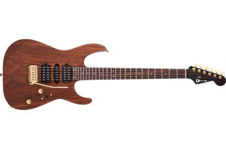 Charvel MJ DK24 HSH 2PT Mahogany with Figured Walnut - Streaky Ebony Fingerboard - Natural
