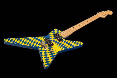 Charvel USA Custom Shop Grover Jackson Legacy Series Star 2H - Spiral Checkerboard PV