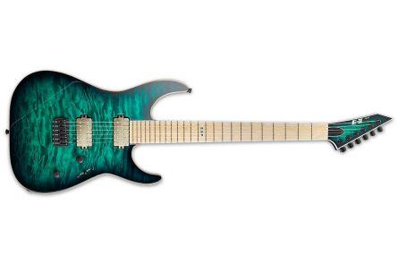 ESP E-II M-II NT BTB - Black Turquoise Burst