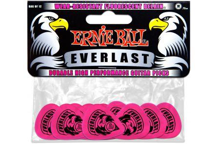 Ernie Ball 9189 Everlast Guitar Pick Medium - Pink - 12 Pack