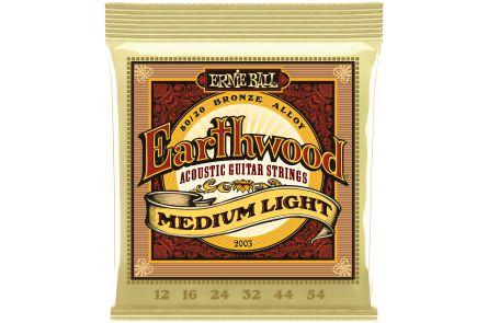 Ernie Ball 2003 Earthwood Bronze Medium Light .012 - .054