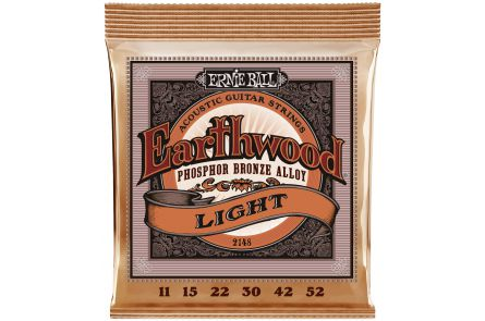 Ernie Ball 2148 Earthwood Phosphor Bronze Light .011 - .052