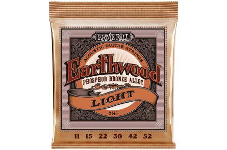 Ernie Ball 2148 Earthwood Phosphor Bronze Light .011 - .052