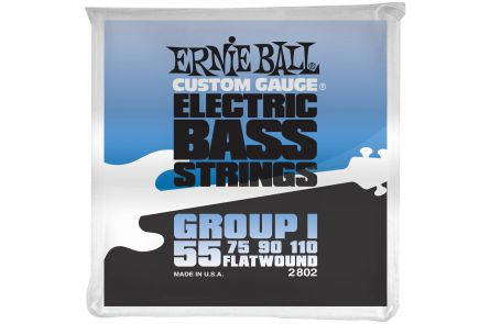 Ernie Ball 2802 Flatwound Bass Group I .055 - .110