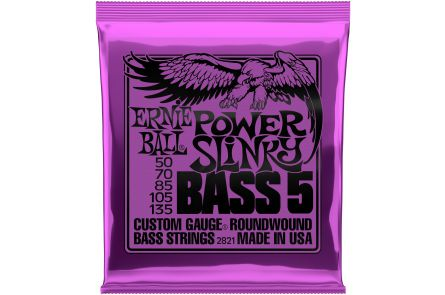 Ernie Ball 2821 Power Slinky 5-String Bass .050 - .135