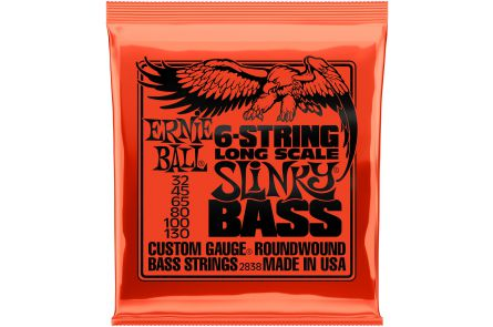 Ernie Ball 2838 Slinky Long Scale 6-String Bass .032 - .130