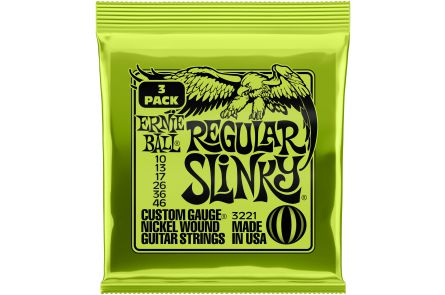 Ernie Ball 3221 3x Regular Slinky .010 - .046 - Tone Pack