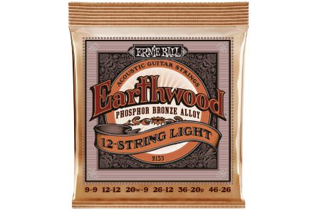 Ernie Ball 2153 Earthwood Phosphor Bronze 12-String .009 - .046