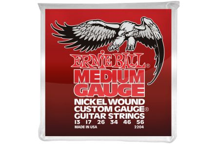Ernie Ball 2204 Nickel Wound Medium Gauge .013 - .056