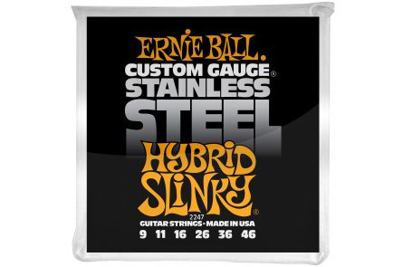 Ernie Ball 2247 Stainless Steel Hybrid Slinky .009 - .046